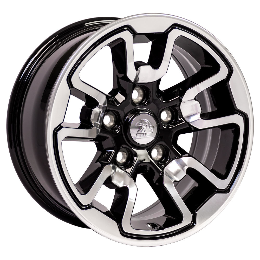 "17"" Rim fits Dodge RAM Rebel Style Polished w/Blk 17x8 Wheel Hollander 2553"