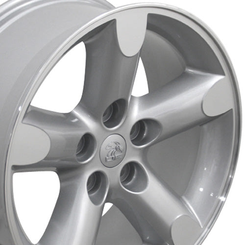 "20"" Fits Dodge - Ram 15 Wheel - Silver Mach'd Face 2x9 