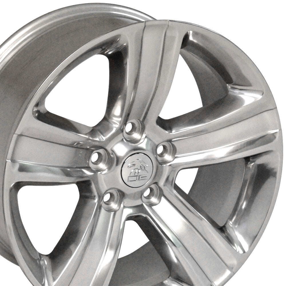 "20"" Fits Dodge - Ram 15 Style Replica Wheel - Polished w/ Silver Inlay 2x9 