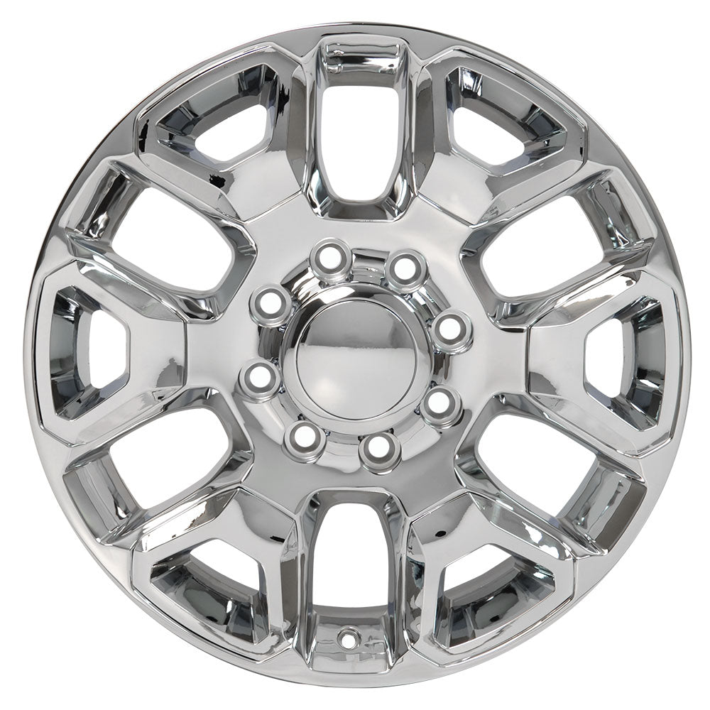"20"" fits Dodge - 25-35 Replica Wheel - Chrome with Chrome Inserts 2x8 