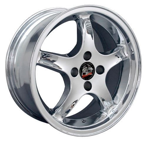 "17"" Fits Ford - Mustang Cobra R Deep Dish Wheel - Chrome 17x8 