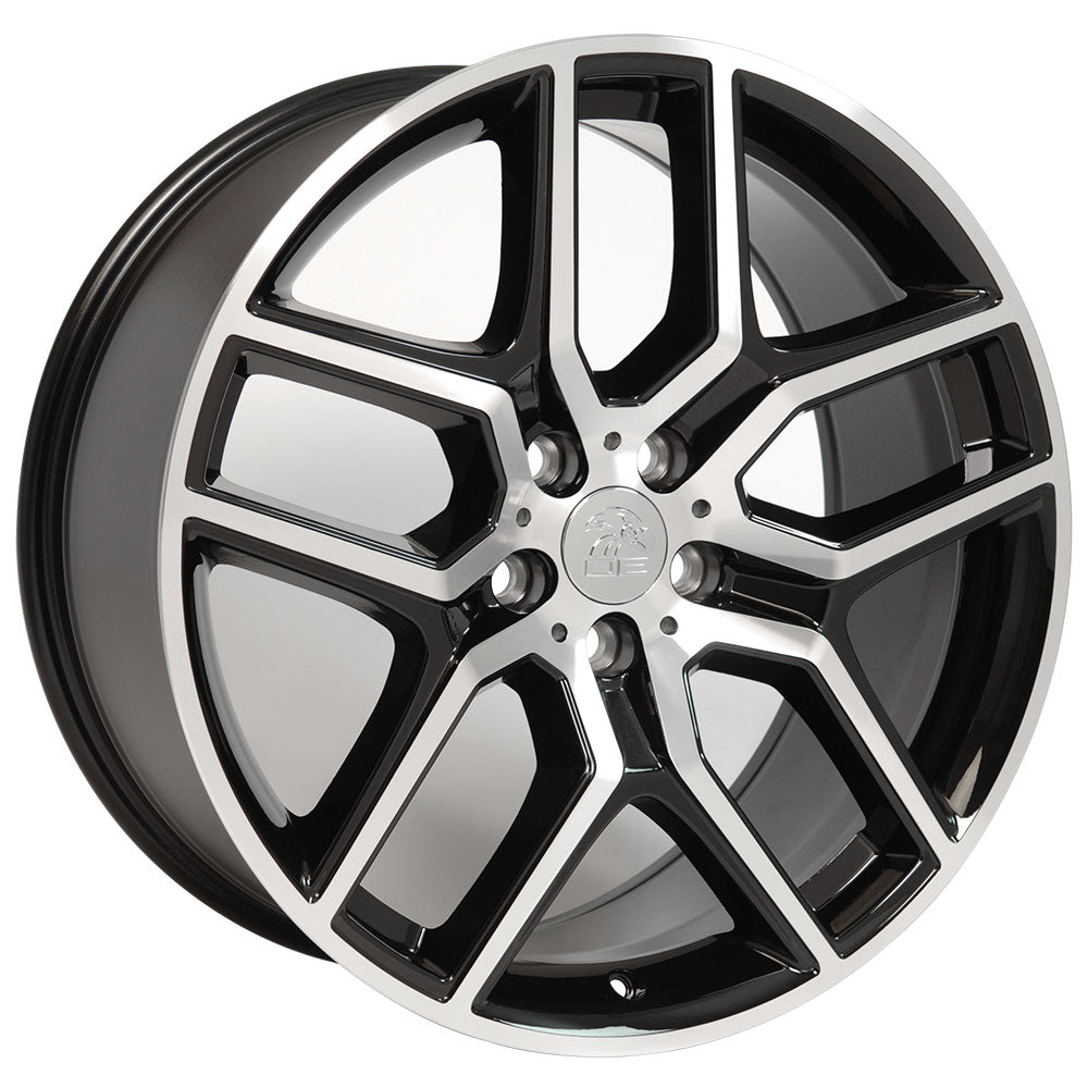 "20"" Fits Ford Explorer Replica Wheel - Black Machined Face 2x9 