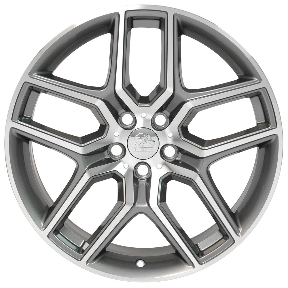 "20"" Fits Ford Explorer Replica Wheel - Gunmetal Machined Face 2x9 