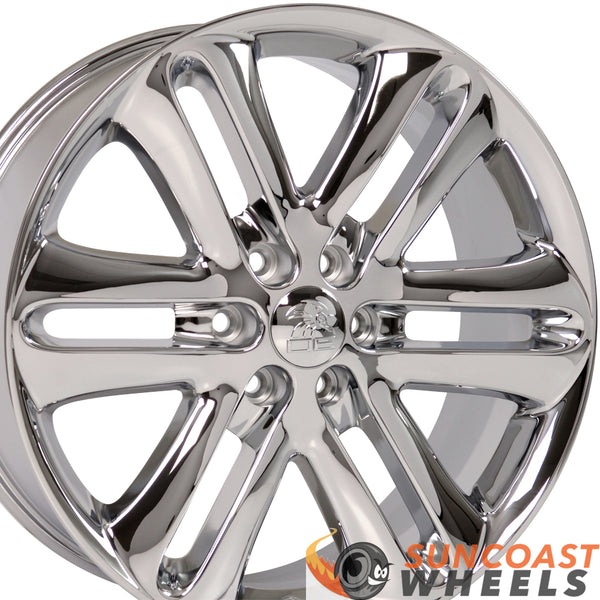 22 inch Rim Fits Ford F150 Style FR76 22x9 Chrome Wheel