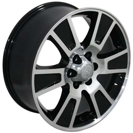 "20"" Fits Ford - F-15 Style Replica Wheel - Black Mach'd Face 2x8.5 