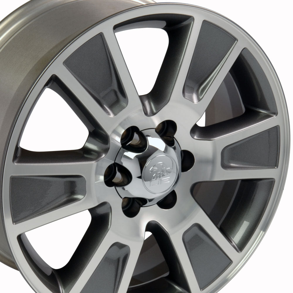 "20"" Fits Ford - F-15 Style Replica Wheel - Gunmetal Mach'd Face 2x8.5 
