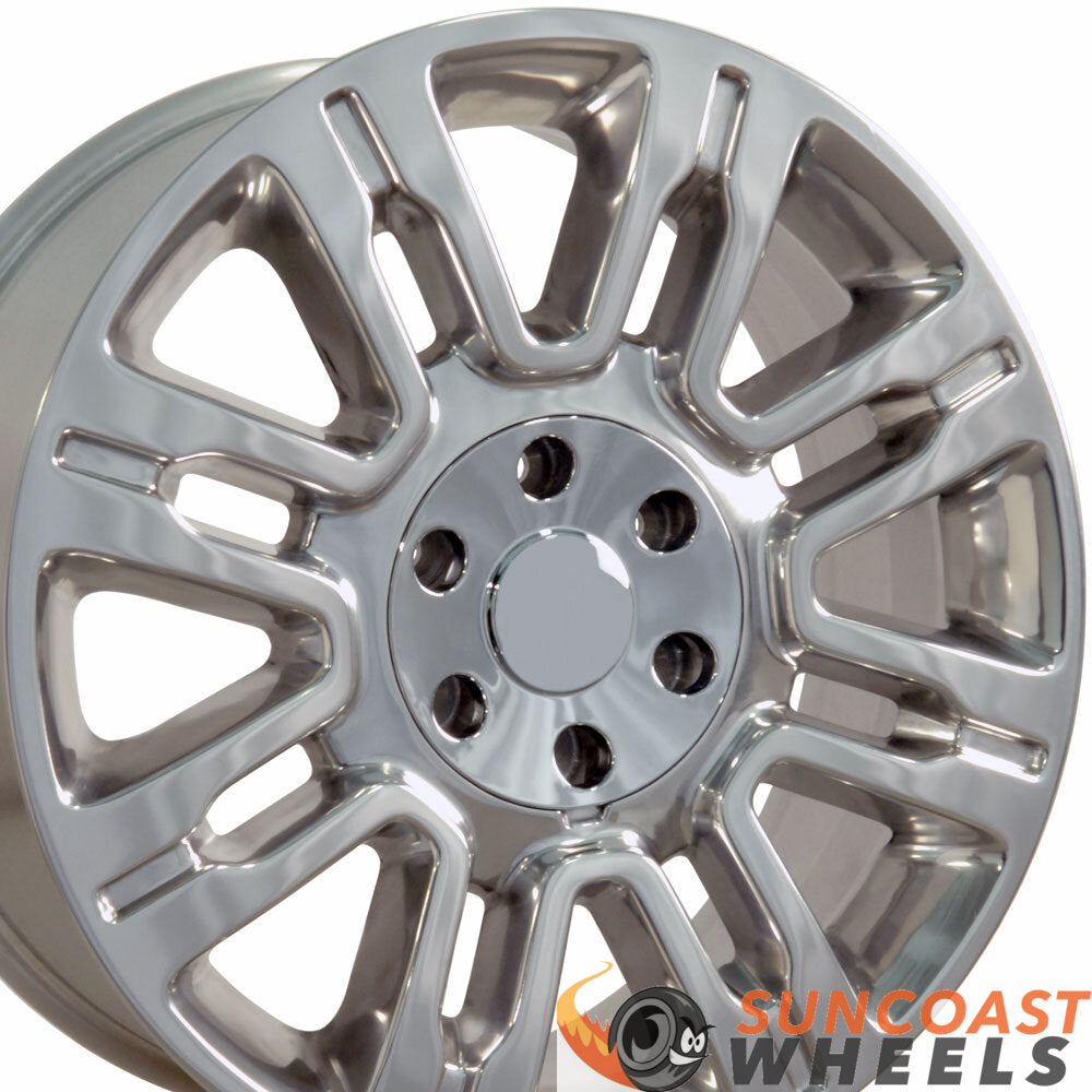 20 inch Rim Fits Ford Expedition Style FR98 20x8.5 Polished Aluminum Wheel