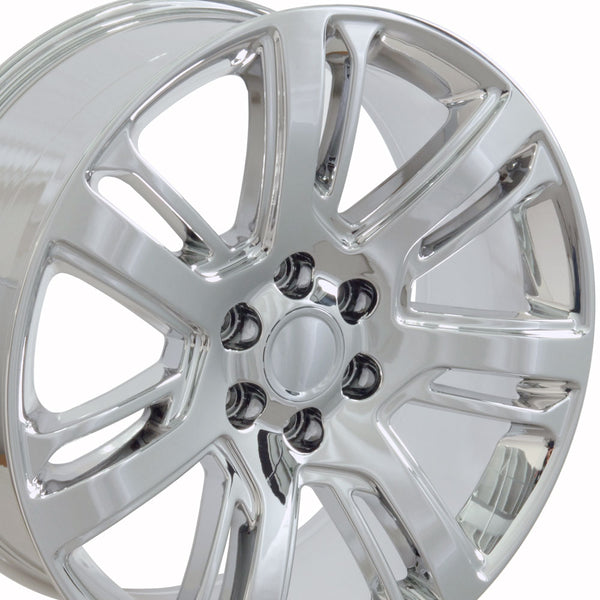 "24"" Fits Cadillac - Escalade Style Replica Wheel - Chrome 24x1 