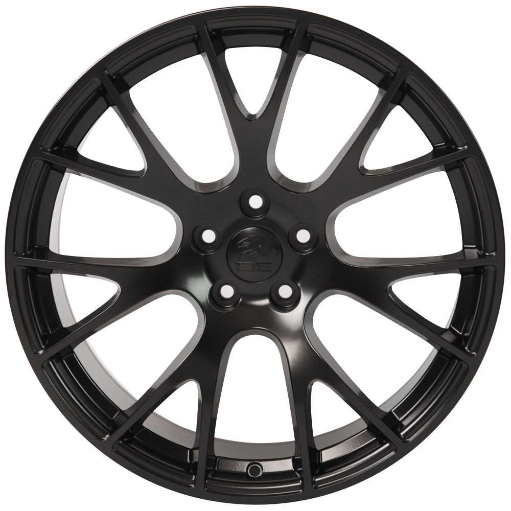 "20"" Fits Dodge - Hellcat Style Replica Wheel - Satin Black 2x9 
