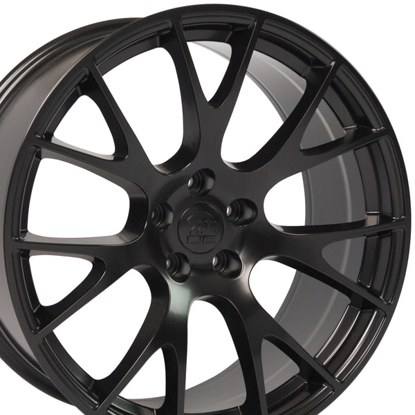20 inch Rim Fits Dodge Charger Challenger Hellcat Replica Wheel DG15 20x10 Satin Black