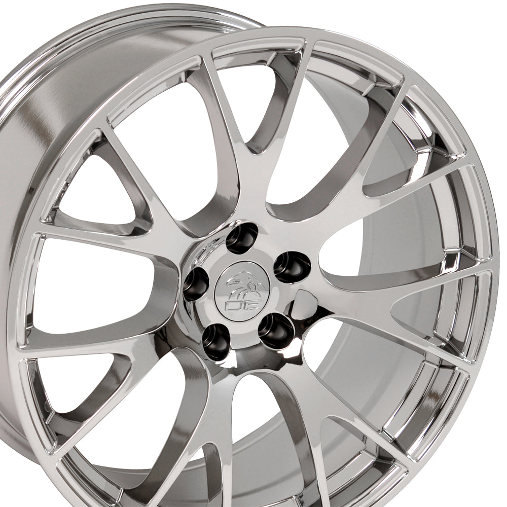 "20"" Fits Dodge - Hellcat Style Replica Wheel - PVD Chrome 2x9 