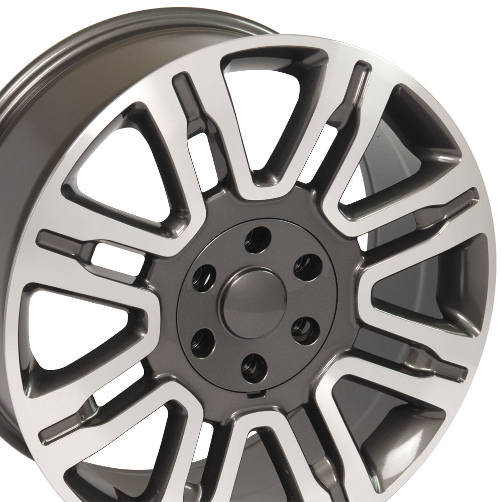 "20"" Fits Ford - Expedition Style Replica Wheel - Gunmetal Machined Face 2x8.5 
