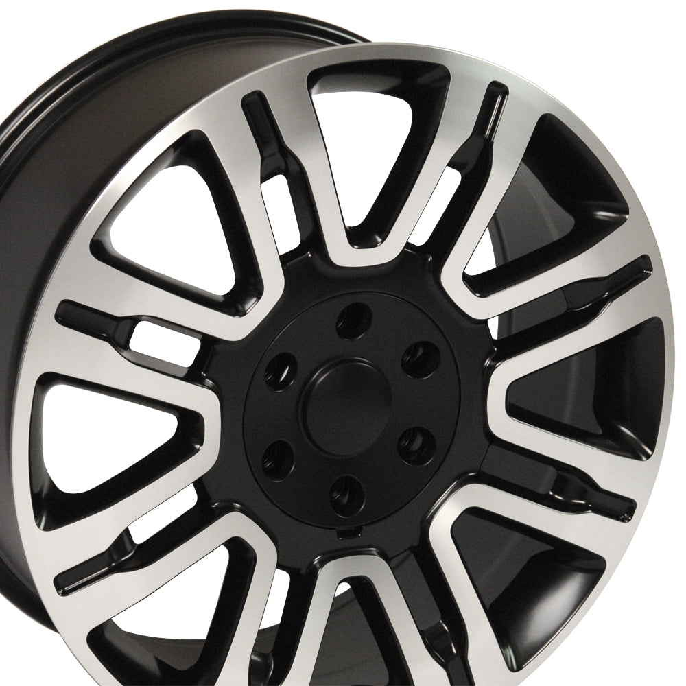 "20"" Fits Ford - Expedition Style Replica Wheel - Satin Black with a Machined Face 2x8.5 SD 