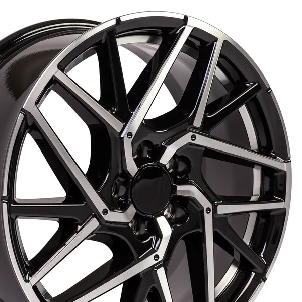 "18"" Rim Fits Honda Civic Style 18x8 Black Mach'd Hollander 64107"