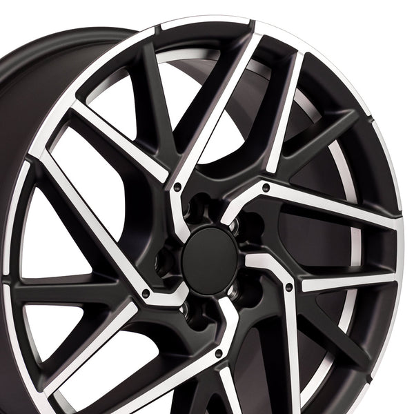 "18"" Rim Fits Honda Civic Style 18x8 Satin Black Mach'd Hollander 64107"