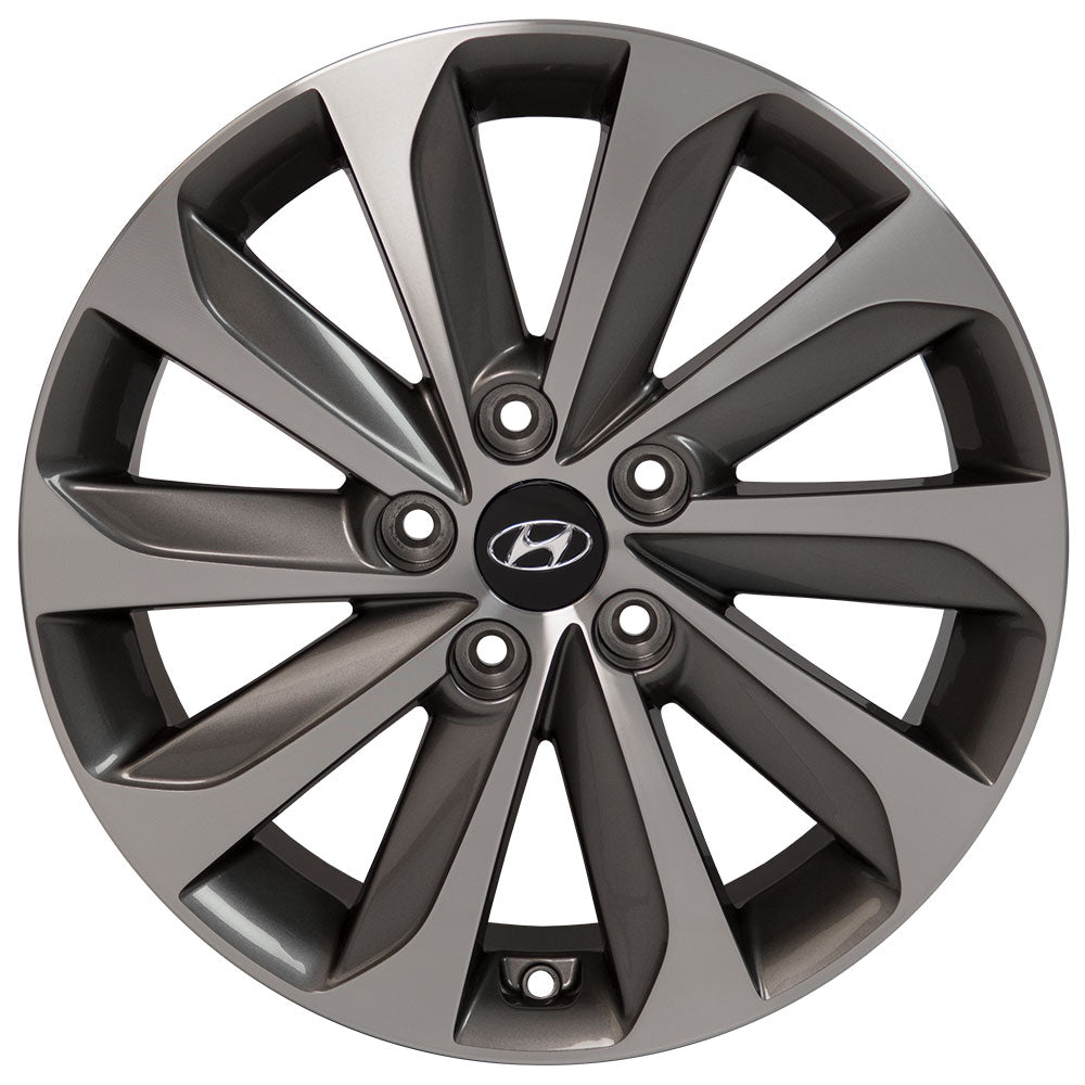 "17"" Hyundai - Sonata OEM Wheel - Gunmetal Machined Face 17x7 