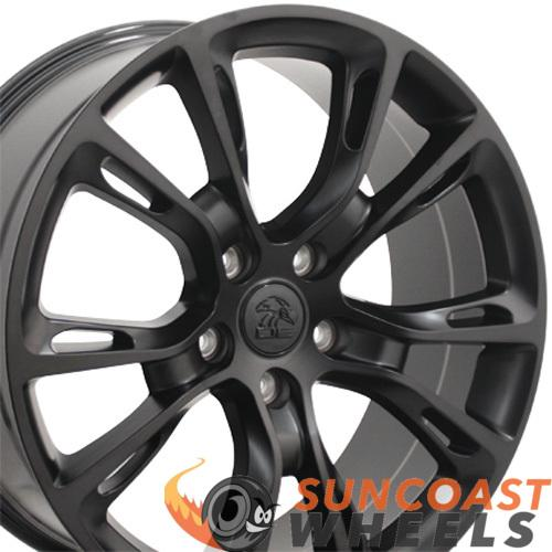 20 inch Rim Fits Jeep Grand Cherokee Style JP16 20x8.5 Satin Black Wheel