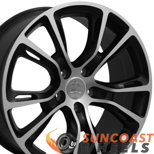 20 inch Rim Fits Jeep Grand Cherokee Style JP16 20x8.5 Satin Black Machined Wheel