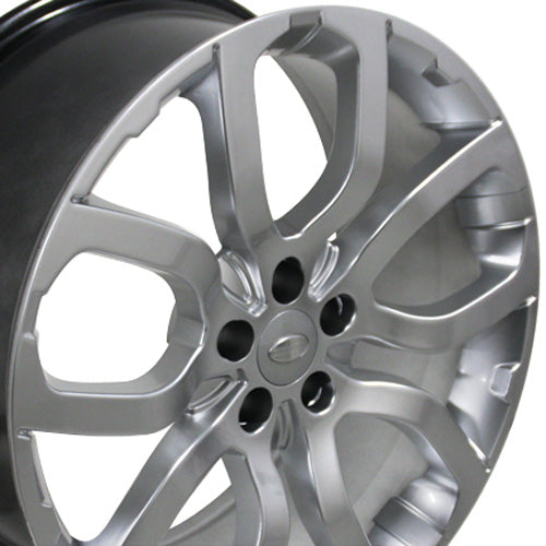 "20"" Fits Land Rover - Evoque Style Replica Wheel - Hyper Silver 2x9 