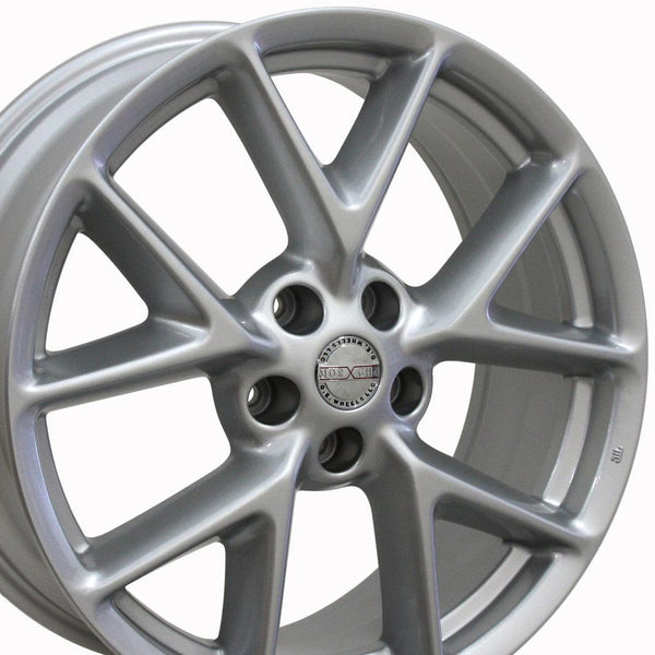 19 inch Rim Fits Nissan Maxima Style NS20 19x8 Silver Wheel