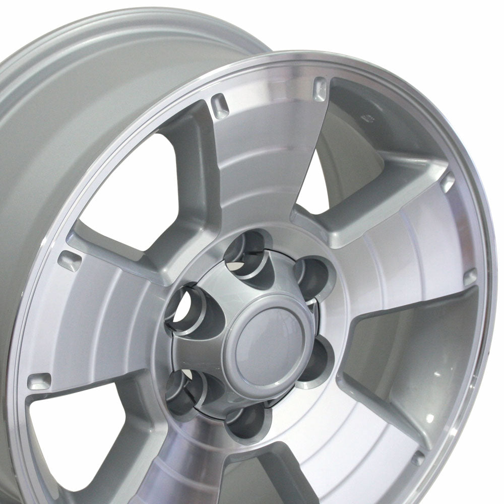 "17"" Fits Toyota - 4Runner Style Replica Wheel - Silver Mach'd Face 17x7.5 