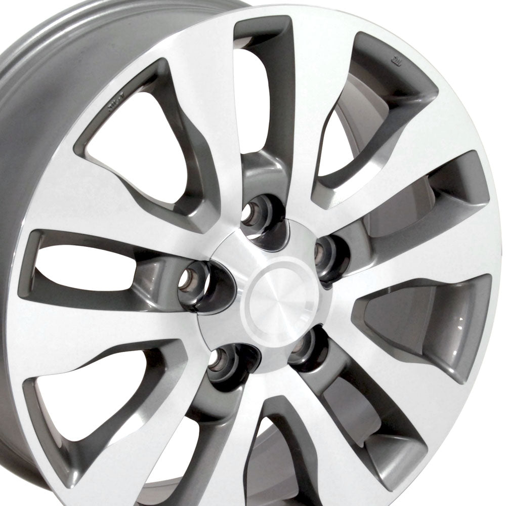 "20"" Fits Toyota - Tundra Style Replica Wheel - Silver Mach'd Face 2x8 