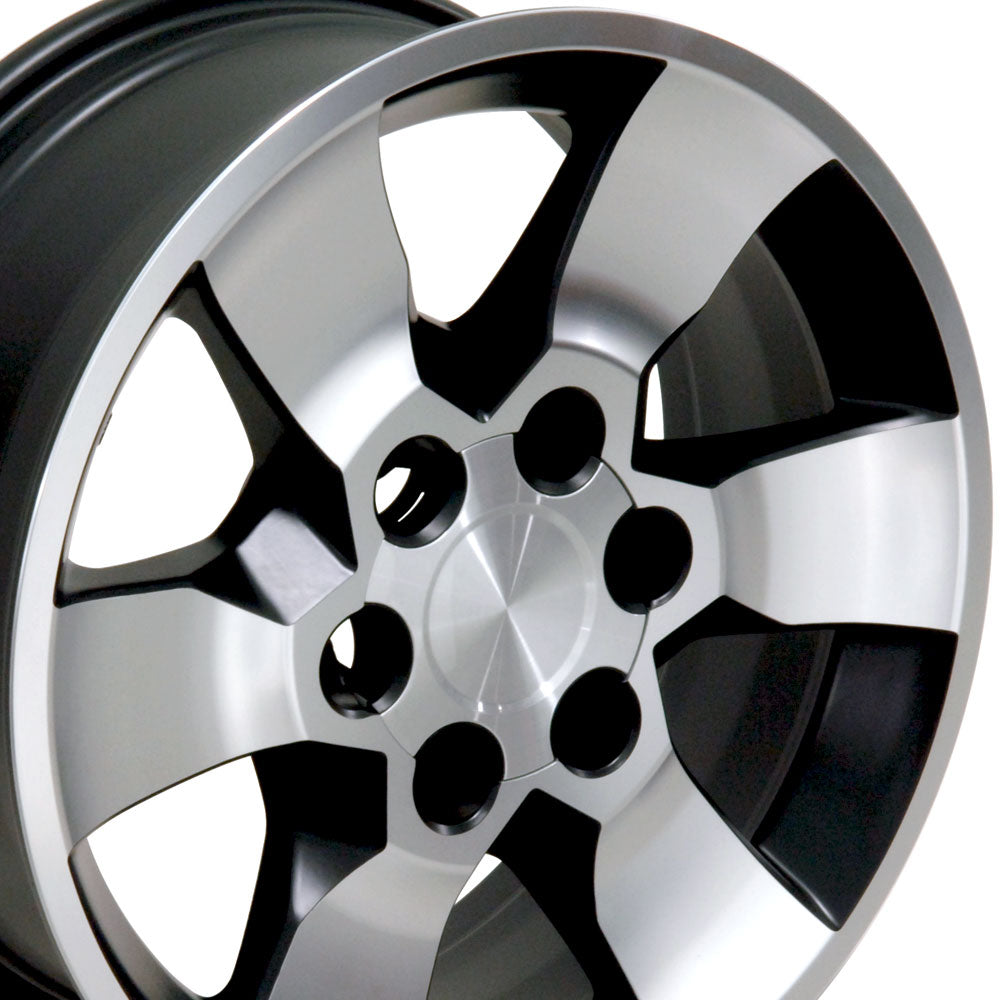 "17"" Fits Toyota - 4Runner Style Replica Wheel - Satin Black with a Mach'd Face 17x7 