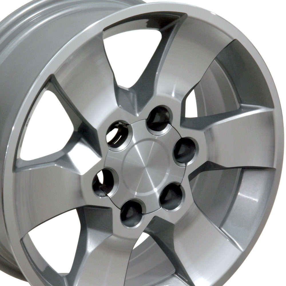 "17"" Fits Toyota - 4Runner Style Replica Wheel - Silver Mach'd Face 17x7 