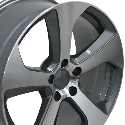 "18"" Fits Volkswagen - GTI Style Replica Wheel - Gunmetal Machined Face 18x8 