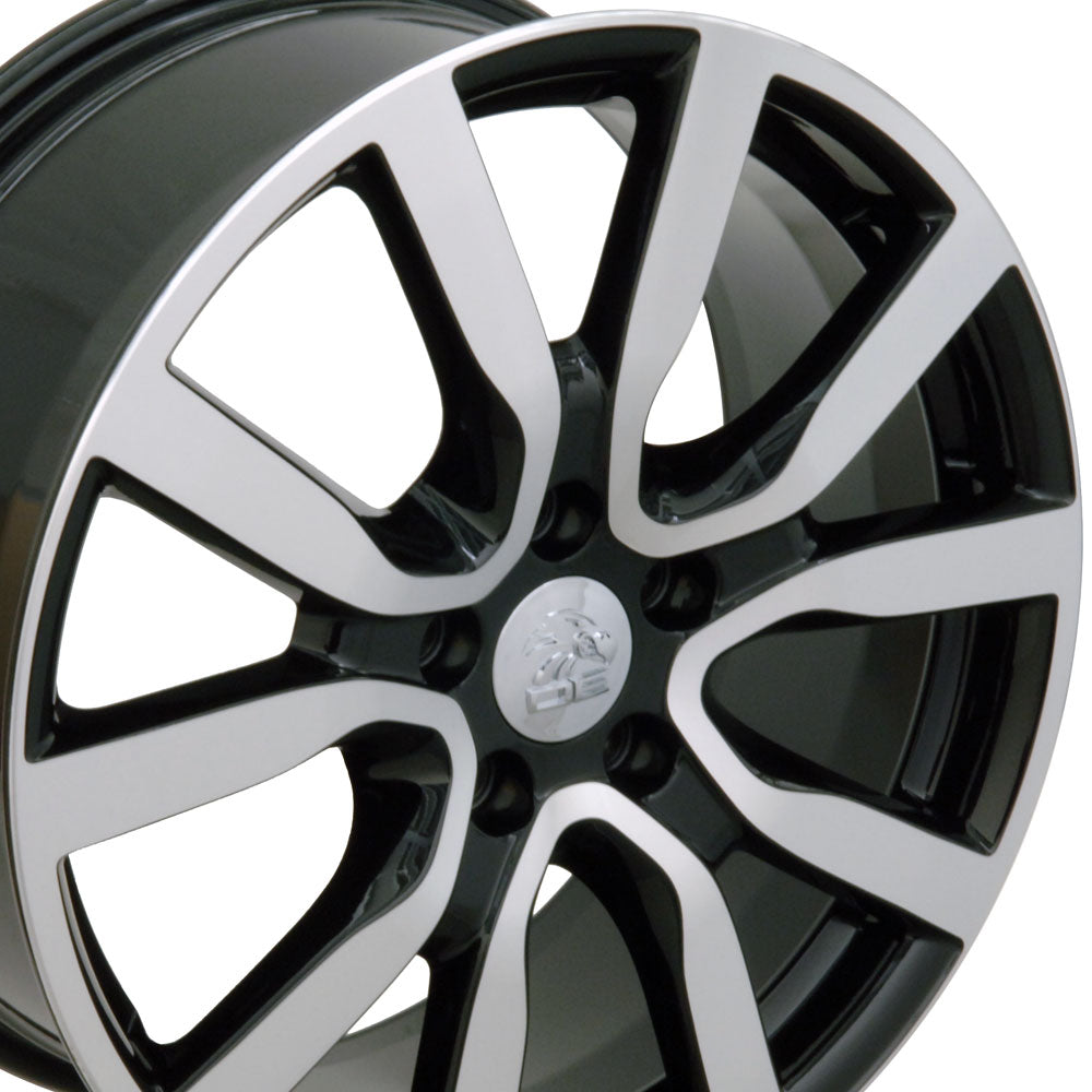 "18"" Fits VW Volkswagen - Golf Style Replica Wheel - Black Mach'd Face 18x7.5 