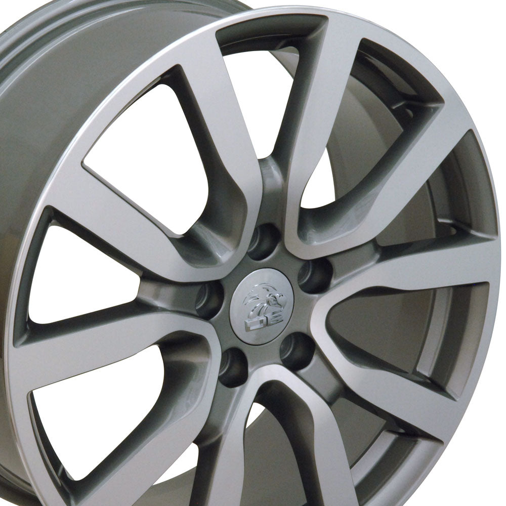 "18"" Fits VW Volkswagen - Golf Style Replica Wheel - Gunmetal Mach'd Face 18x7.5 
