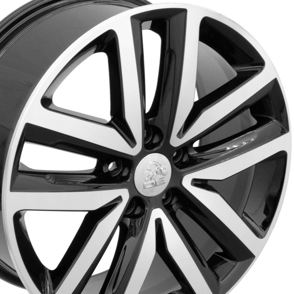 "18"" Fits VW Volkswagen - Jetta Style Replica Wheel - Black Mach'd Face 18x7.5 