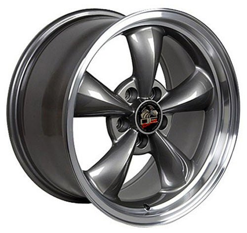 "17"" Fits Ford - Mustang Bullitt Wheel - Anthracite Mach'd Lip 17x8 