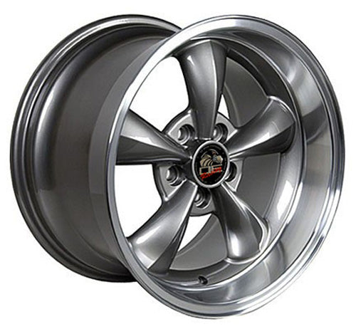 "18"" Fits Ford - Mustang Bullitt Wheel - Anthracite Mach'd Lip 18x1 