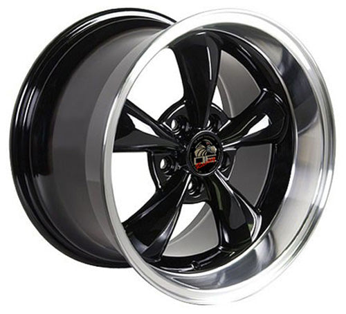 "17"" Fits Ford - Mustang Bullitt Wheel - Black Mach'd Lip 17x1.5 
