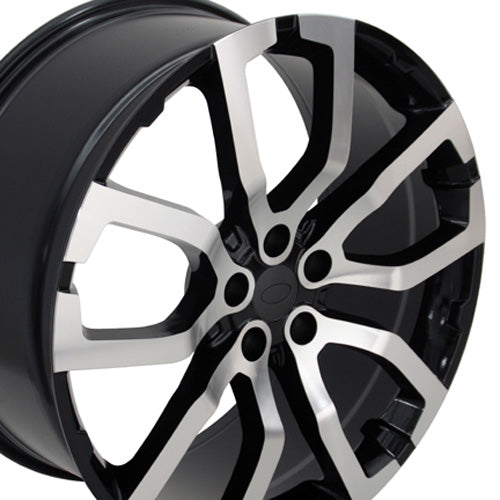 "22"" Fits Land Rover Range Rover - Replica Wheel - Mach'd Black 22x1 