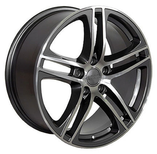 "18"" Fits Audi - R8 Wheel - Gunmetal Mach'd Face 18x8 
