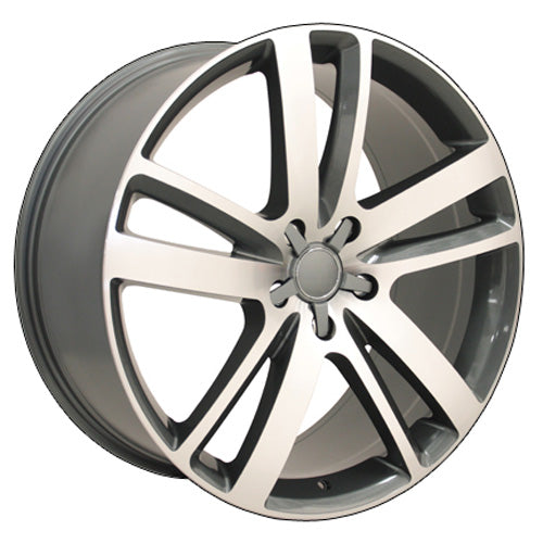 "20"" Fits Audi - Q7 Wheel - Gunmetal Mach'd Face 2x9 