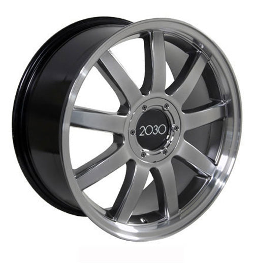 Fits Audi RS Deep Dish Wheel Hyper Silver Machd Lip X - Suncoast audi