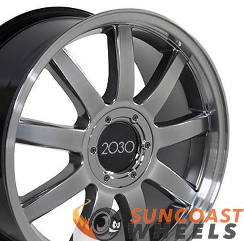 18 inch Rim Fits Audi RS4 Style AU04 18x8 Hyper Silver Machined Wheel