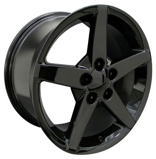 "17"" Fits Chevrolet - Corvette C6 Wheel - Black 17x9.5 
