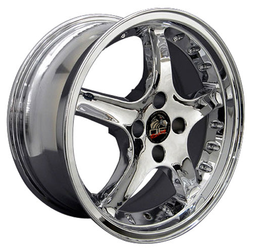 "17"" Fits Ford - Mustang Cobra R Deep Dish Wheel - Chrome with Rivets 17x8 