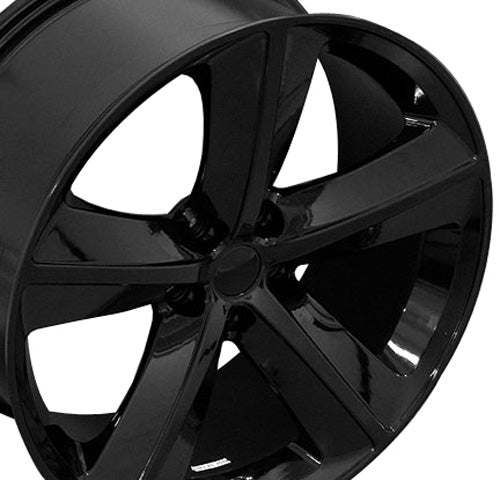 "20"" Fits Dodge - Challenger SRT Wheel - Black 2x9 