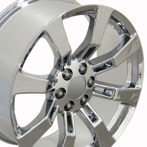 "20"" Fits Cadillac - Escalade Wheel - Chrome 2x8.5 