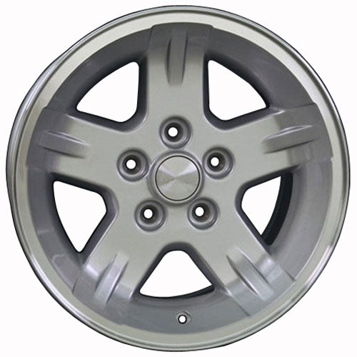 "15"" Fits Jeep - Wrangler Wheel - Silver Mach'd Lip 15x8 
