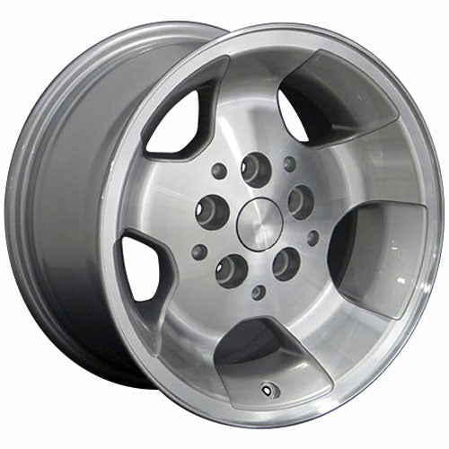 "15"" Fits Jeep - Wrangler Wheel - Silver Mach'd Face 15x8 