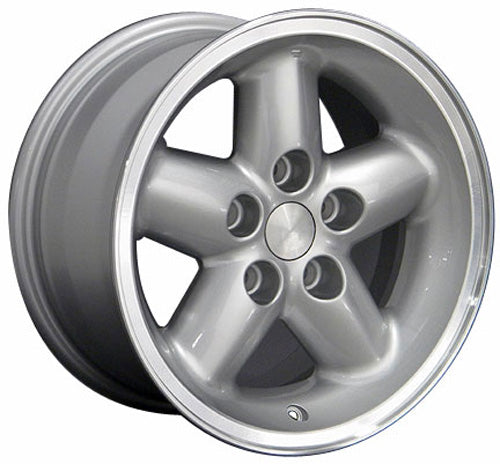 "15"" Fits Jeep - Wrangler Style Wheel - Silver Mach'd Lip 15x8 