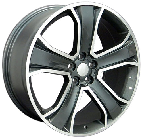 "20"" Fits Land Rover Range Rover - Replica Wheel - Mach'd Gunmetal 2x9.5 
