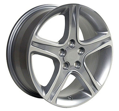 "17"" Fits Lexus - IS Wheel - Silver Mach'd Face 17x7 