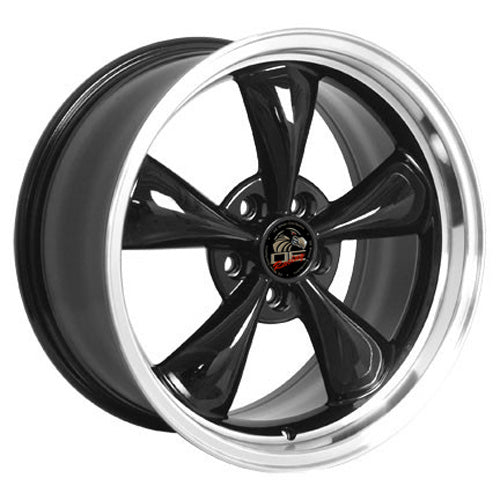"18"" Fits Ford - Mustang Bullitt Wheel - Black Mach'd Lip 18x9 